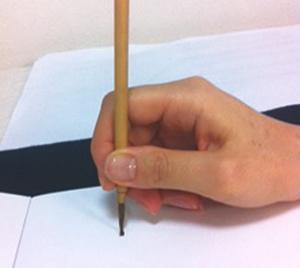 筆の持ち方例